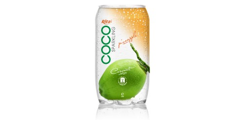 350ml Pet bottle   Sparking coconut water  with pineapple juice