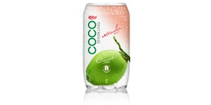 350ml Pet bottle   Sparking coconut water  with watermelon juice