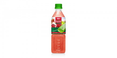 Aloe vera with pomeganate  flavor 500ml Pet Bottle