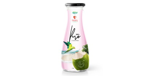 Coconut water with strawberry 1L Glass bottle