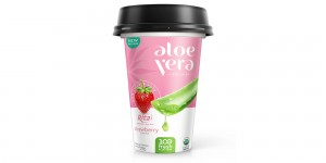PP-cup-330ml aloe vera with strawberry